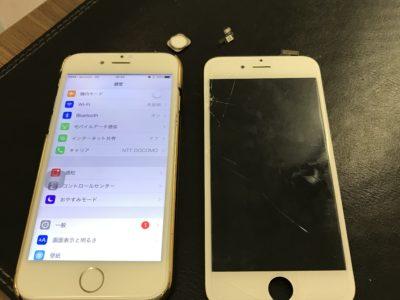 北九州市よりiPhone6の液晶不具合+ホームボタン交換