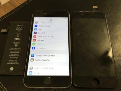 北九州市よりiPhone6の液晶不具合+バッテリー交換