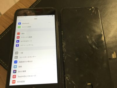 北九州市よりiPhone8Plusの液晶不具合