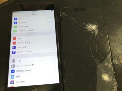 北九州市小倉南区よりiPhone8Plusの液晶不具合