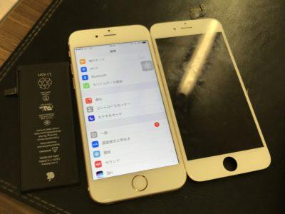 北九州市よりiPhone6Sの液晶不具合+バッテリー交換