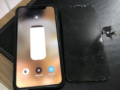 北九州市小倉北区よりiPhoneXの水没修理(パネル交換)