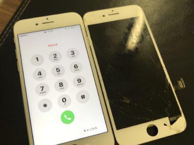 北九州市小倉南区よりiPhone8の液晶不具合