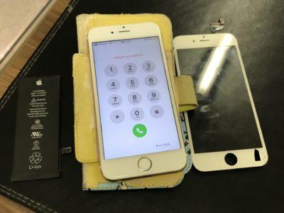 北九州市よりiPhone6Sのガラス割れ+バッテリー交換