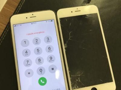 北九州市よりiPhone6SPlusのガラス割れ修理