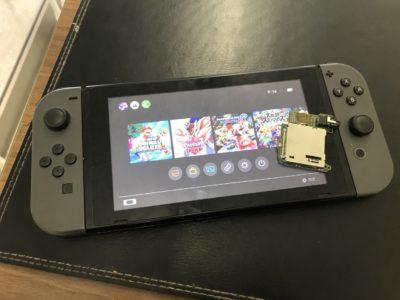北九州市より任天堂Switchのゲームカードスロット交換