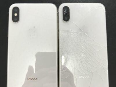 北九州市よりiPhoneXのバックパネル交換+ガラス割れ修理